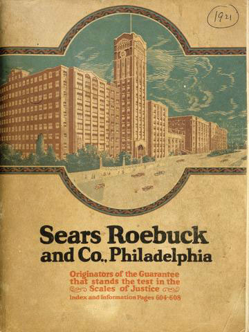 1921 Sears Roebuck catalog cover